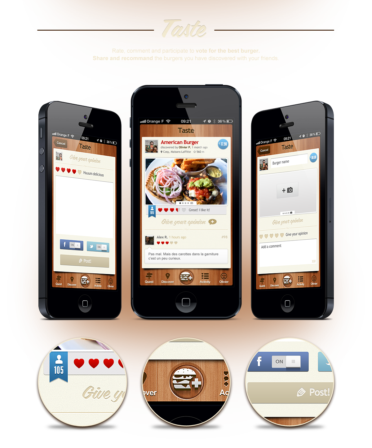 UI/UX design application mobile BurgerQuest - Seempl Studio
