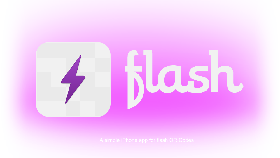 Flash, a simple iPhone app for flash QR Codes