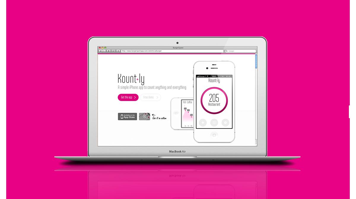 UI/UX design application mobile Kount.ly - Seempl Studio
